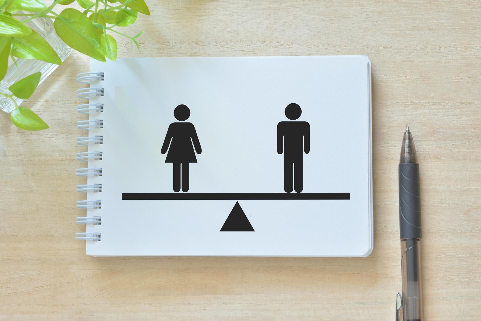 職場での男女の比率
