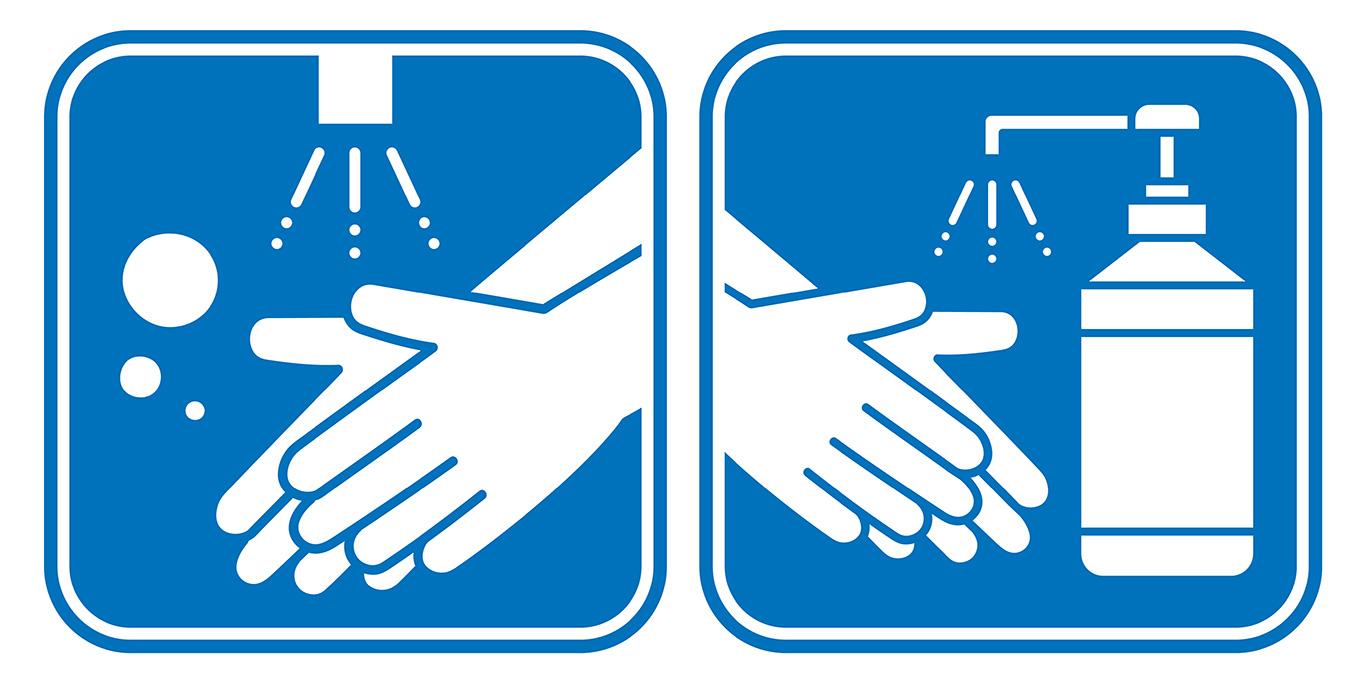 हात धुनु वा  सेनिटाइजरको प्रयोग/消毒や手洗い