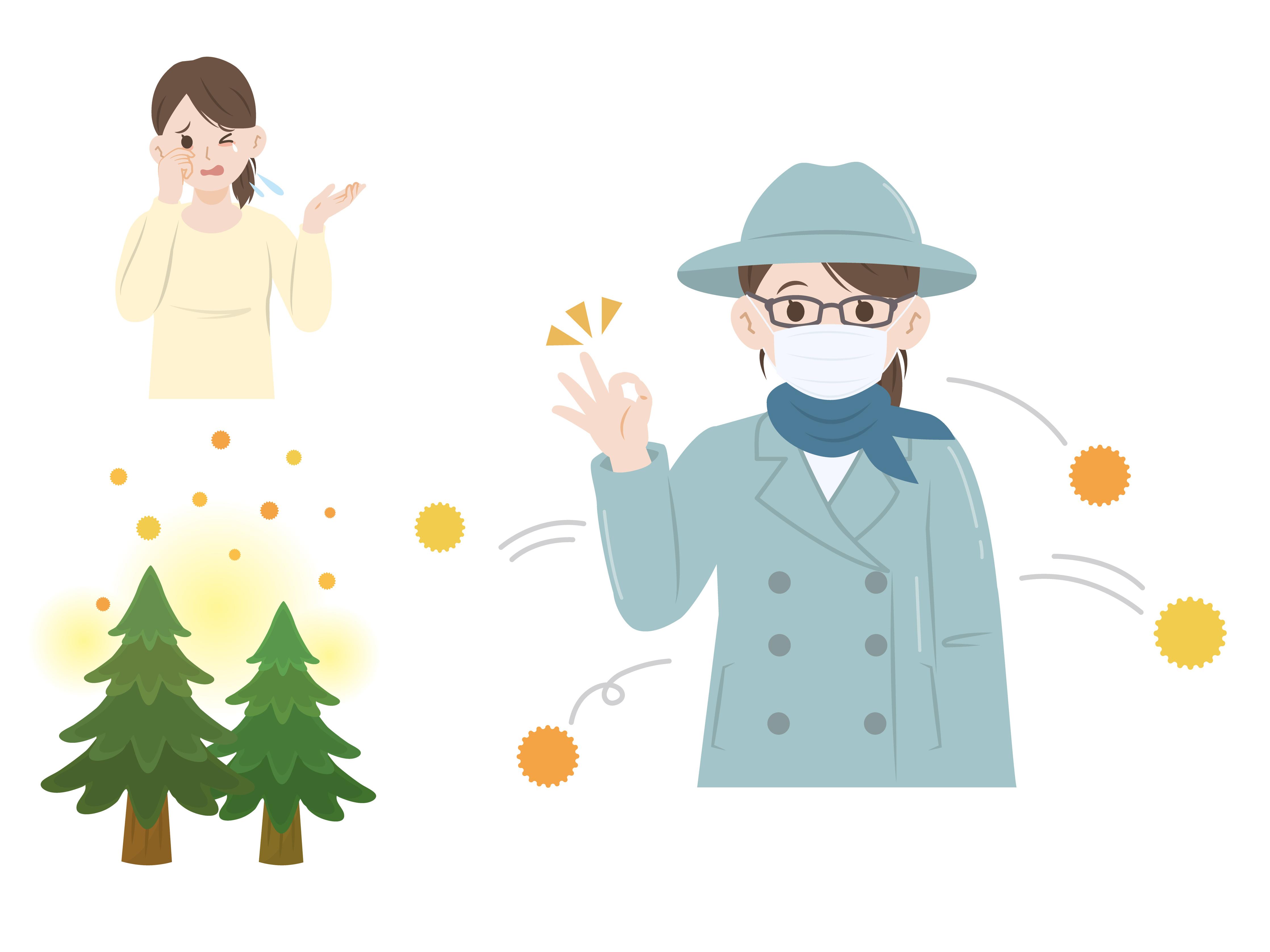 ပန်းဝတ်မှုန်allergy/花粉症